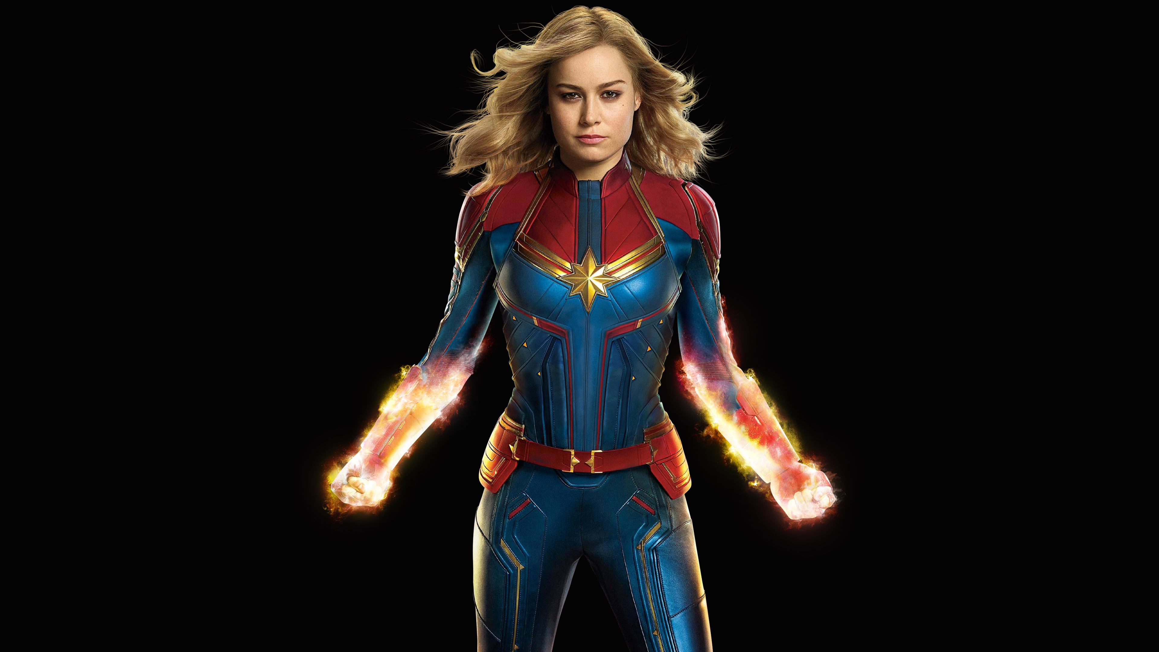 Captain Marvelbrie Larson 4k Ultra Hd Wallpaper Hintergrund