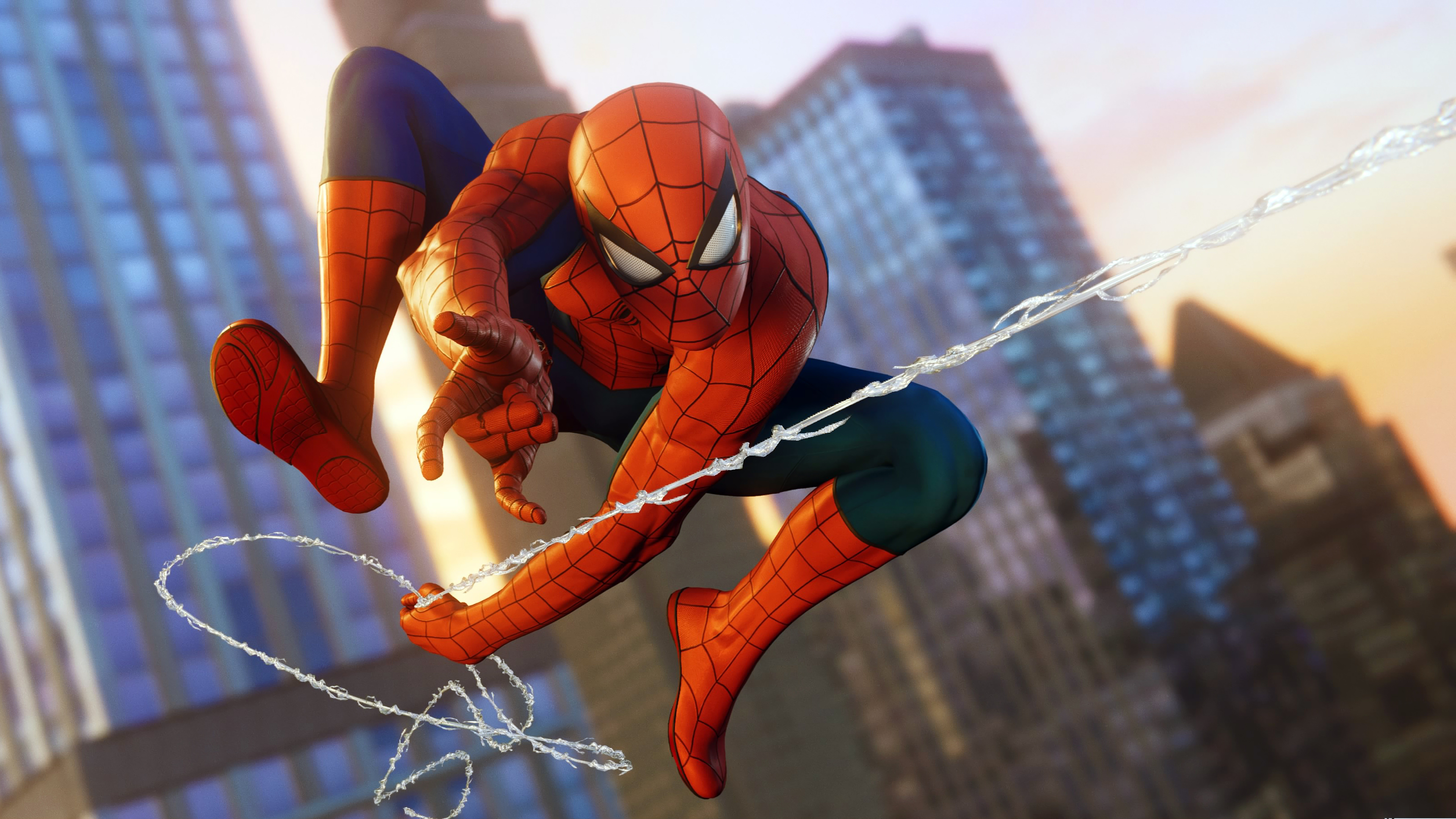 Marvel S Spider Man Ps4 Web Swing 4k Ultra Hd Wallpaper