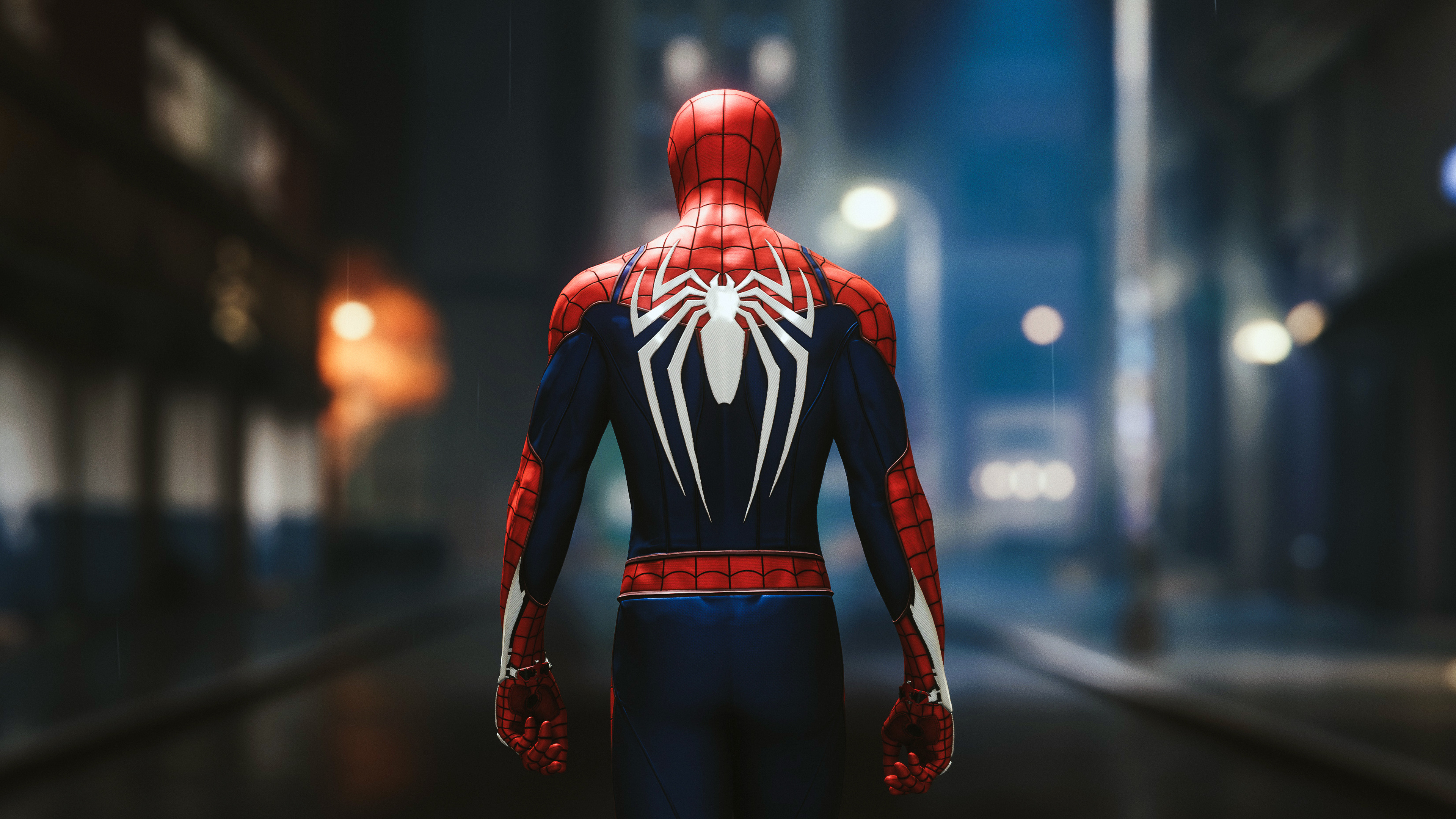 Spider Man Ps4 Advanced Suit 4k Ultra Fondo De Pantalla Hd