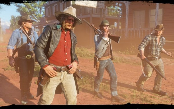 Video Game Red Dead Redemption 2 Red Dead Arthur Morgan Micah Bell Bill Williamson HD Wallpaper | Background Image