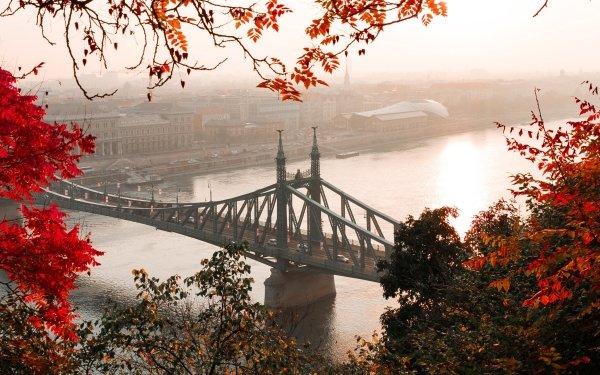 Man Made Bridge Bridges Liberty Bridge Budapest Hungary HD Wallpaper   Background Image