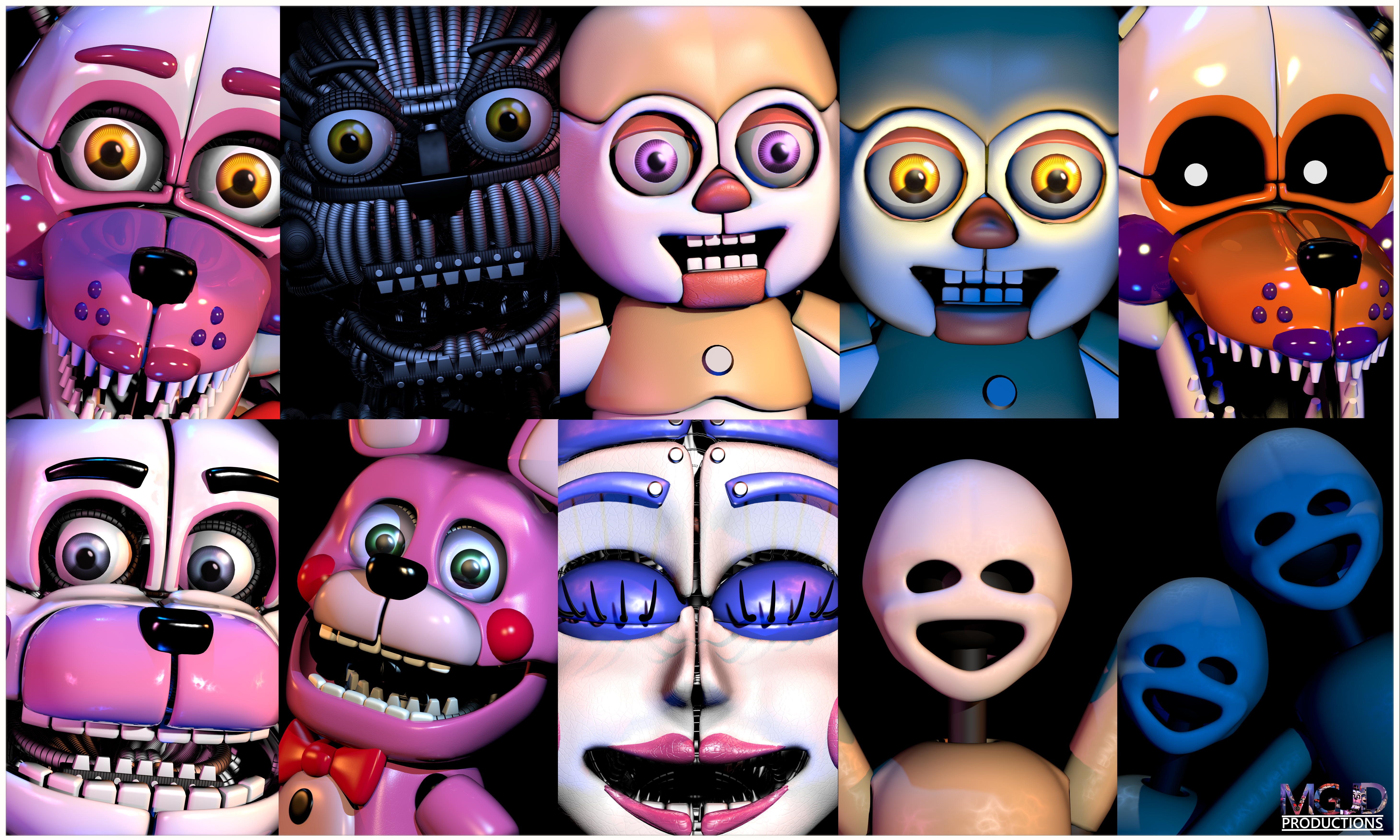 Personajes De Five Nights At Freddy S Sister Location 5k Retina