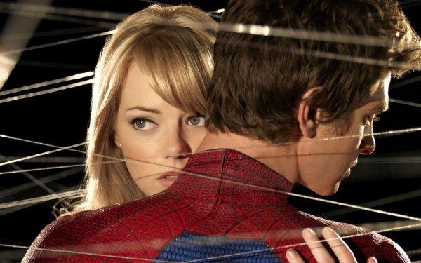 Movie The Amazing Spider-Man Spider-Man Emma Stone Andrew Garfield HD Wallpaper | Background Image