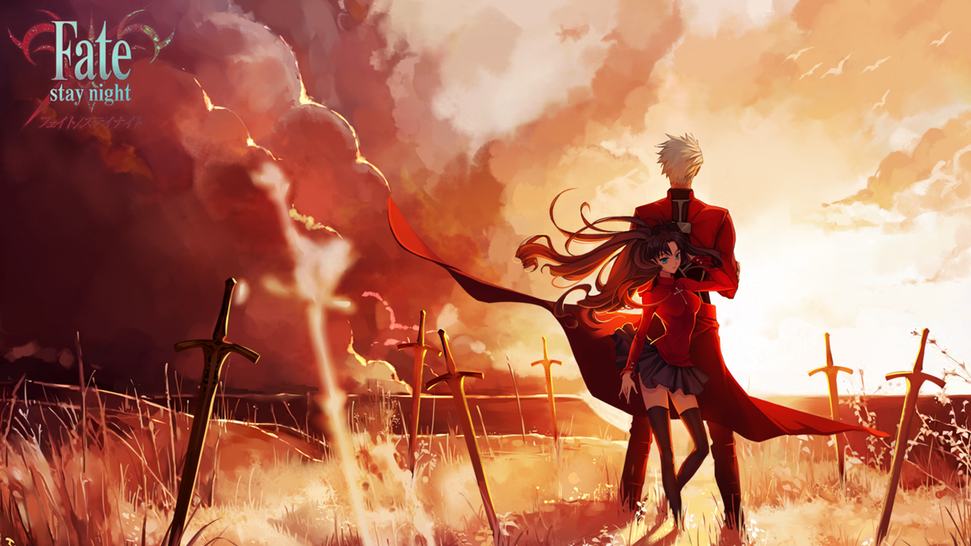 Fate Stay Night Unlimited Blade Works Hd Wallpaper Background