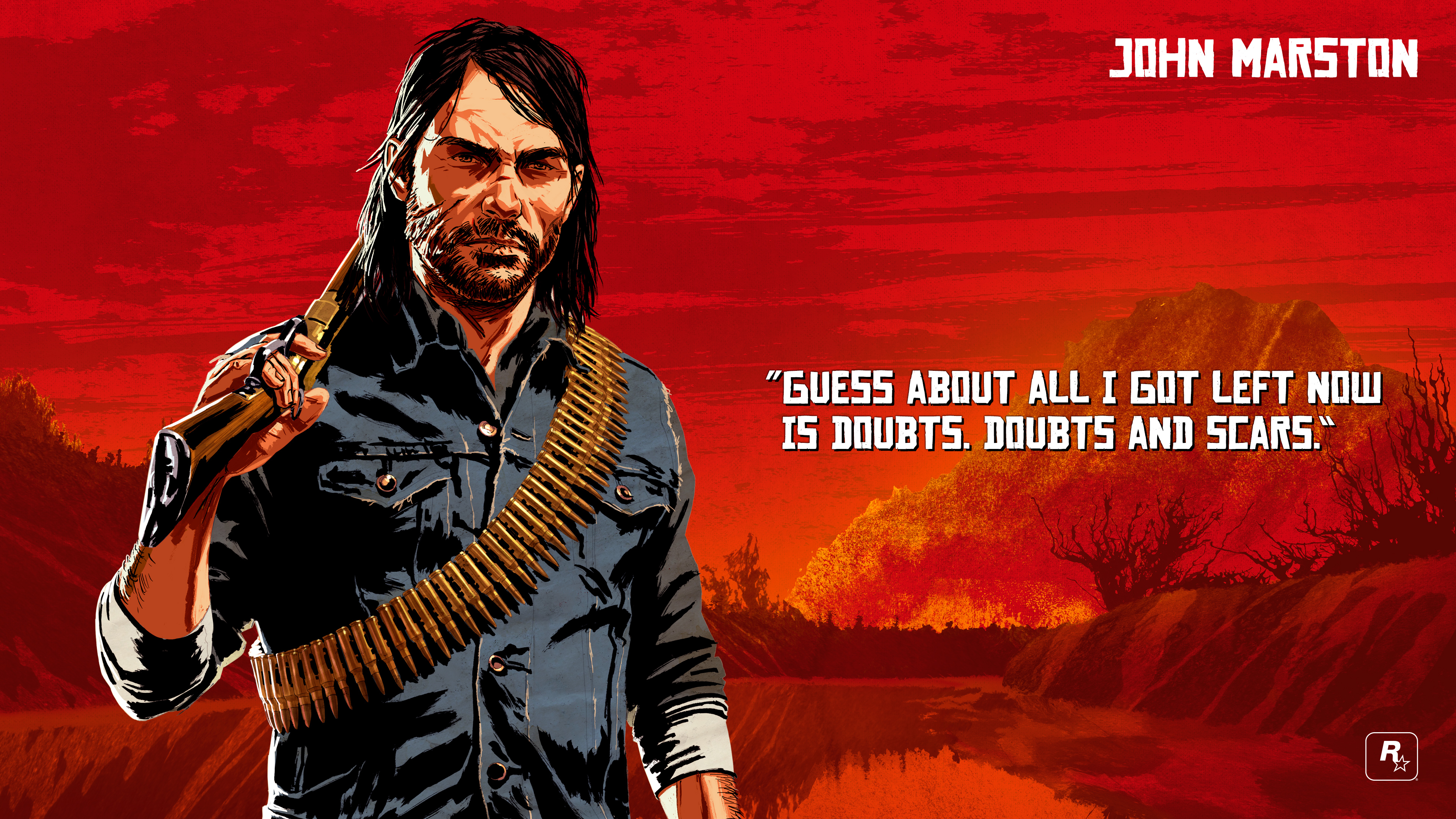 Red Dead Redemption 2 4k Ultra Fondo De Pantalla Hd Fondo
