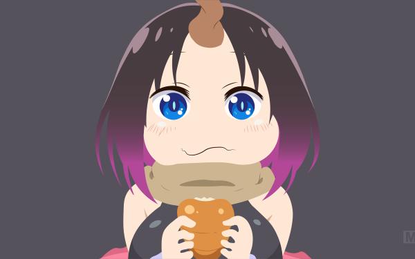 Anime Miss Kobayashi's Dragon Maid Minimalist Vector Elma HD Wallpaper | Background Image