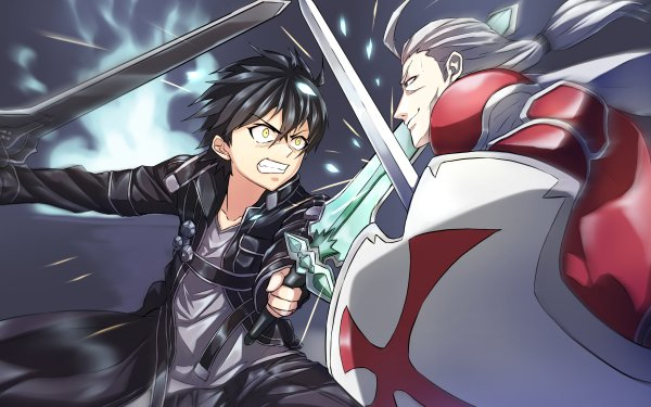 Anime Sword Art Online Kayaba Akihiko Kirito Kazuto Kirigaya Heathcliff Fondo de pantalla HD | Fondo de Escritorio