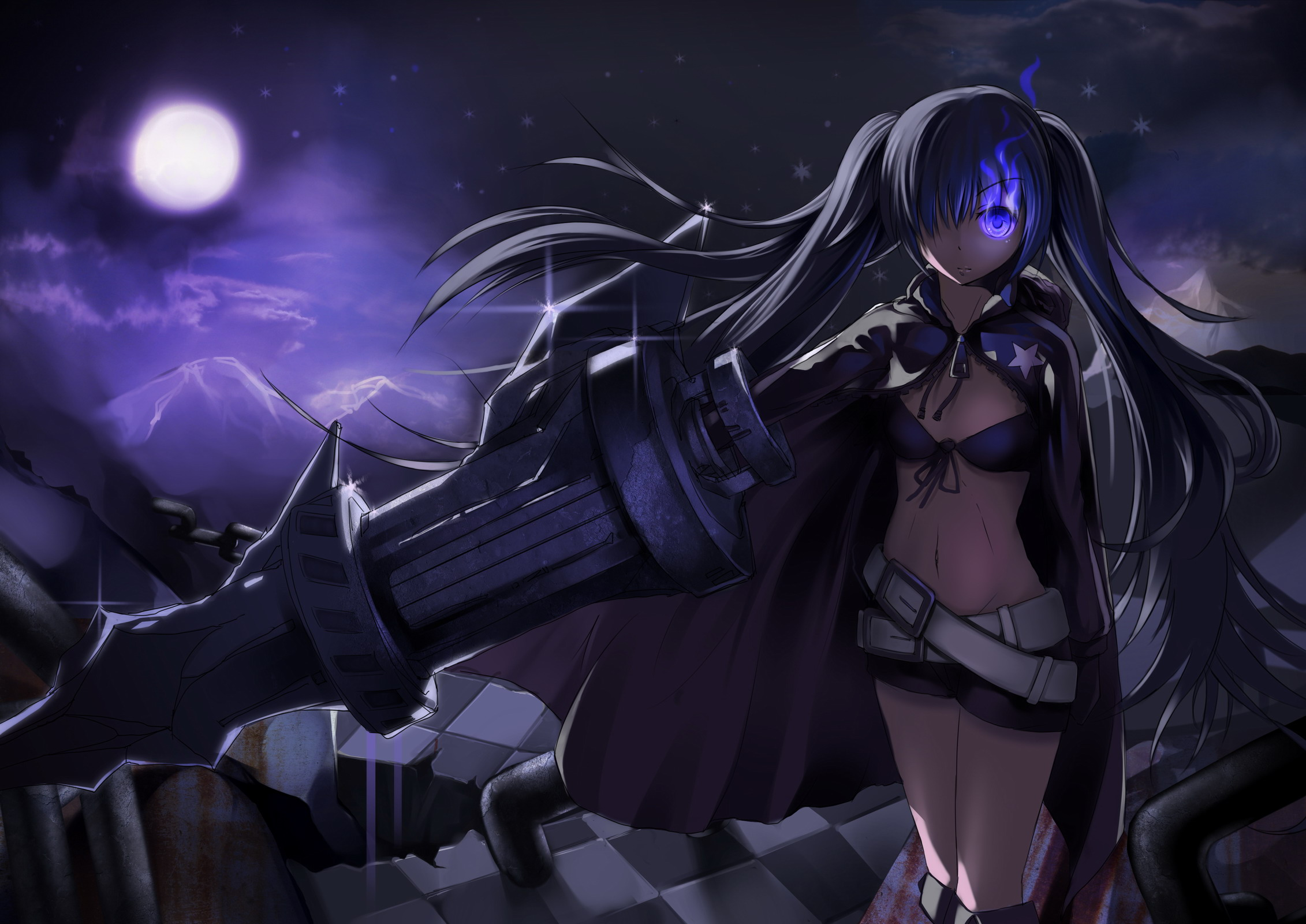 Hd Wallpaper Background Image Id X Anime Black Rock Shooter