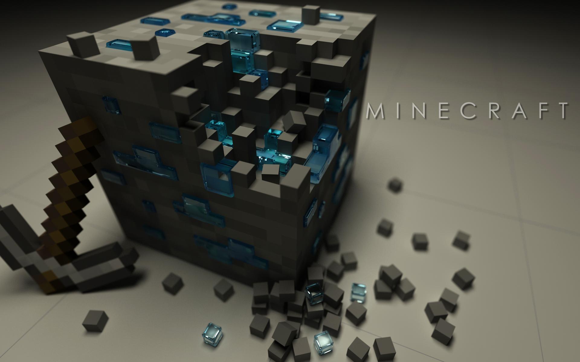Videojuego - Minecraft  Logo Ore (Minecraft) Pickaxe Mojang Videojuego Fondo de Pantalla