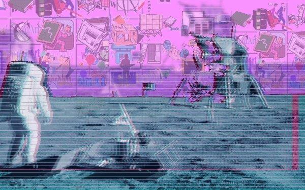 Artistic Glitch Vaporwave Astronaut HD Wallpaper   Background Image