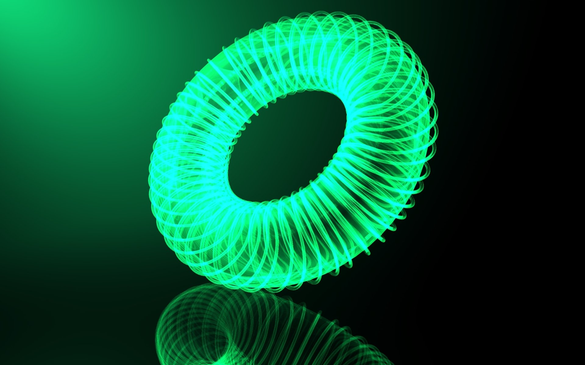 Abstract - Other  Ring Light Green Wallpaper
