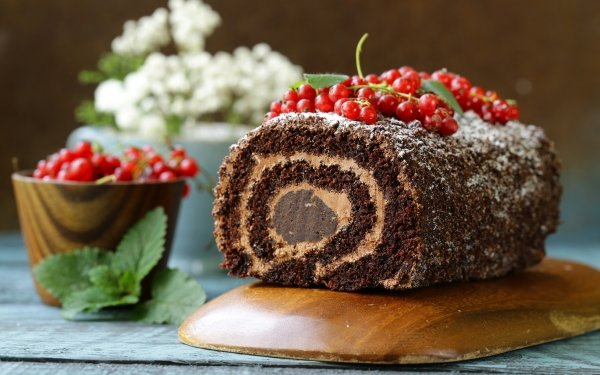 Food Cake Pastry Still Life Currants HD Wallpaper | Background Image