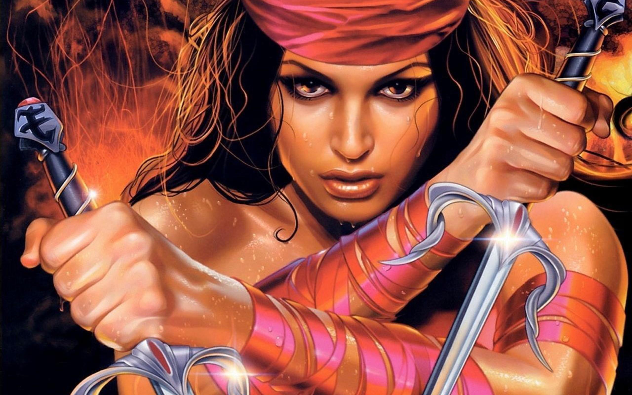 The eyes of the world hd wallpaper background image - Fantasy female warrior artwork ...