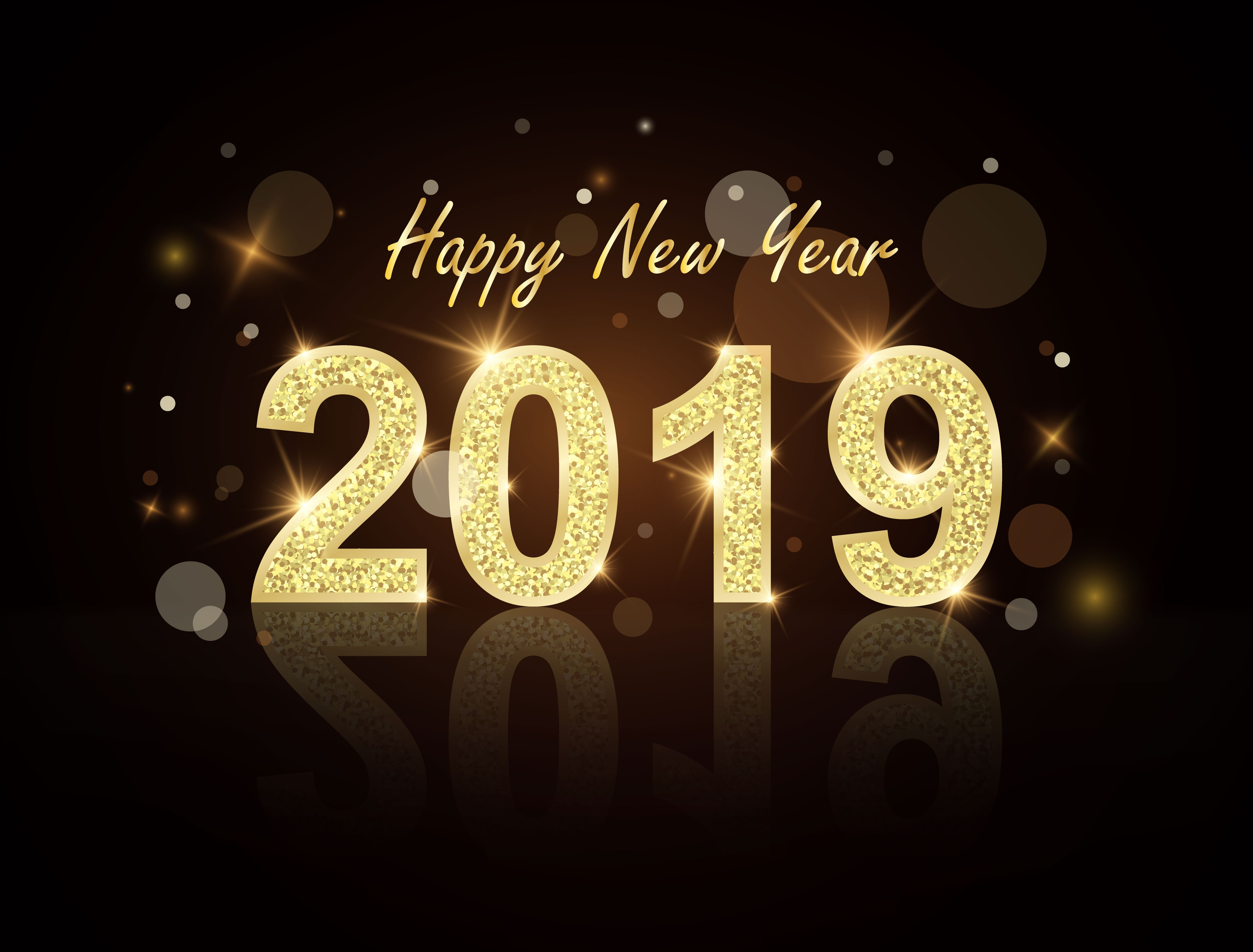 New Year 2019 4k Ultra HD Wallpaper | Background Image ...