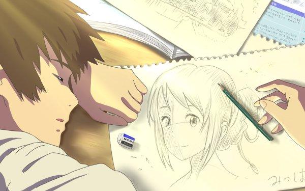 Anime Your Name. Mitsuha Miyamizu Taki Tachibana Fond d'écran HD   Image