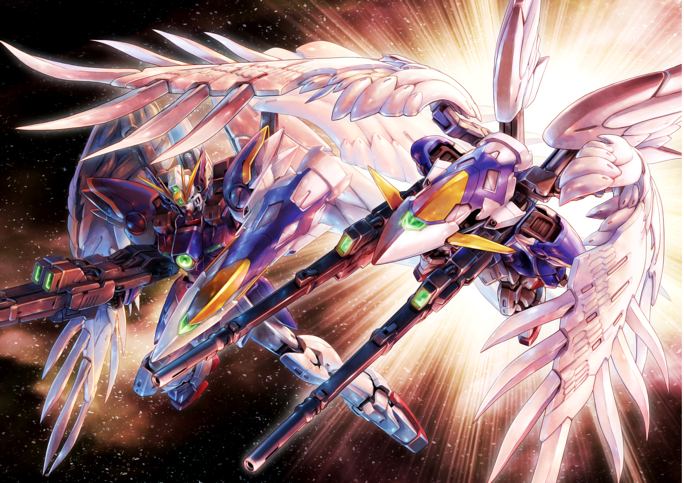 Mobile Suit Gundam Wing Hd Wallpaper Background Image