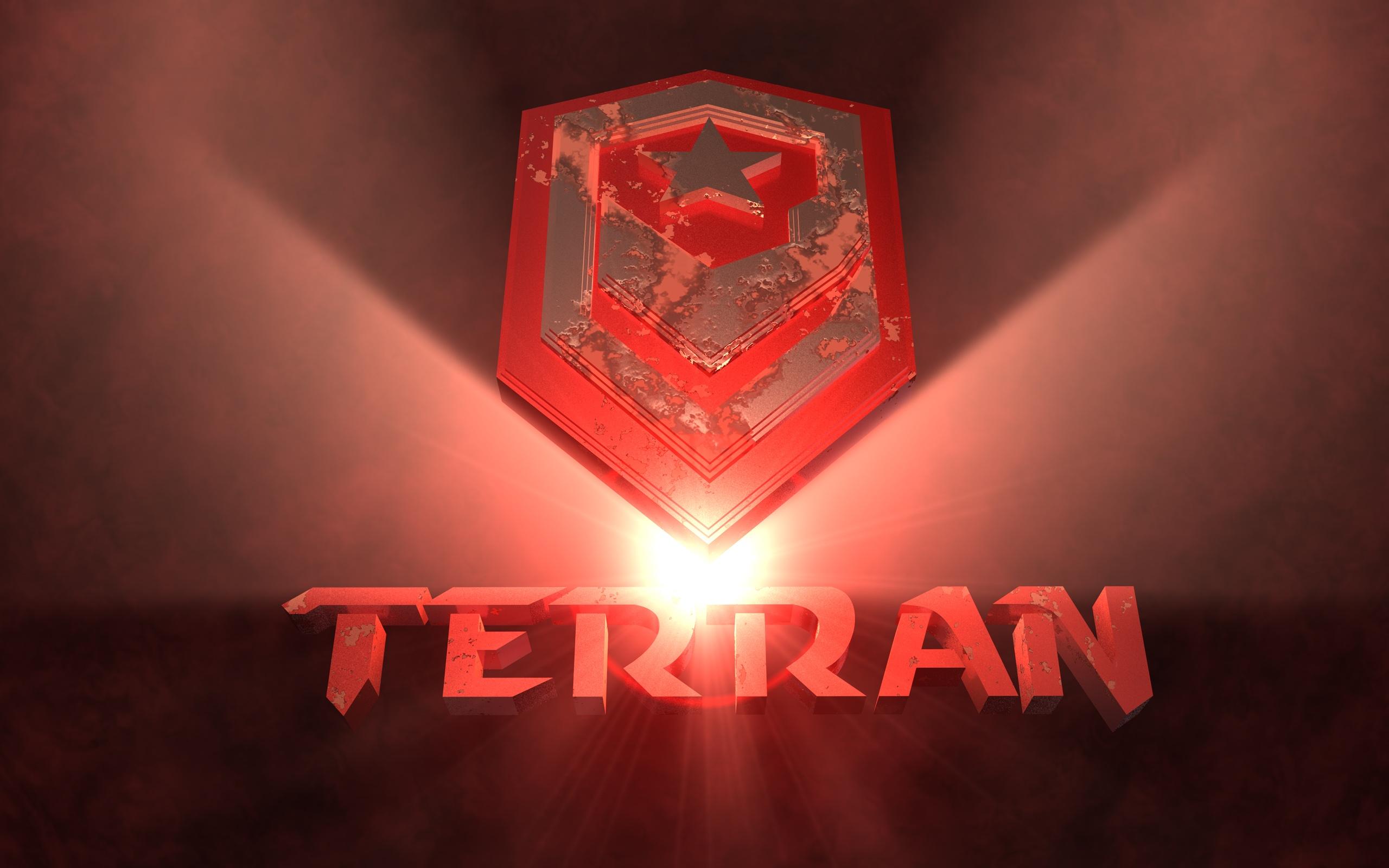 Video Game - Starcraft  Logo Terran Wallpaper