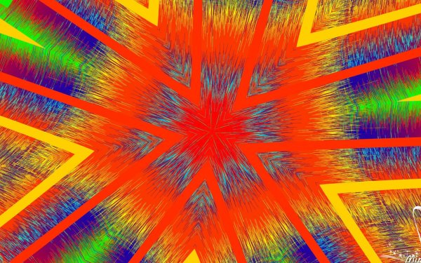 Abstract Kaleidoscope Artistic Digital Art Colors Pattern Generative orange HD Wallpaper | Background Image