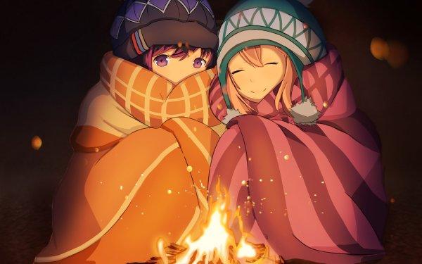 Anime Laid-Back Camp Nadeshiko Kagamihara Rin Shima Fondo de pantalla HD   Fondo de Escritorio