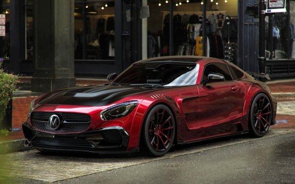 Vehicles Mercedes-Benz AMG GT Mercedes-Benz Car Red Car Sport Car Supercar HD Wallpaper | Background Image