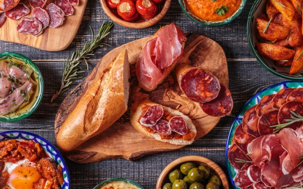 Food Still Life Meat Bread HD Wallpaper | Background Image