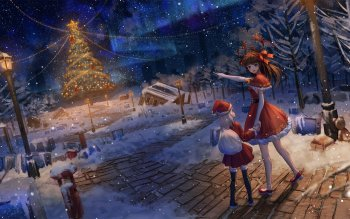 Christmas Anime.21 Christmas Hd Wallpapers Background Images Wallpaper Abyss