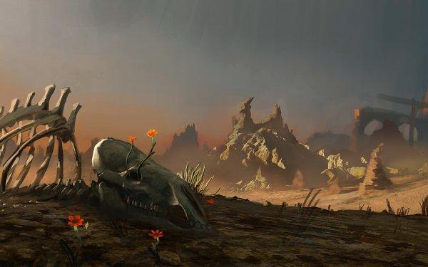 Fantaisie Ruine Wasteland Fond d'écran HD | Arrière-Plan