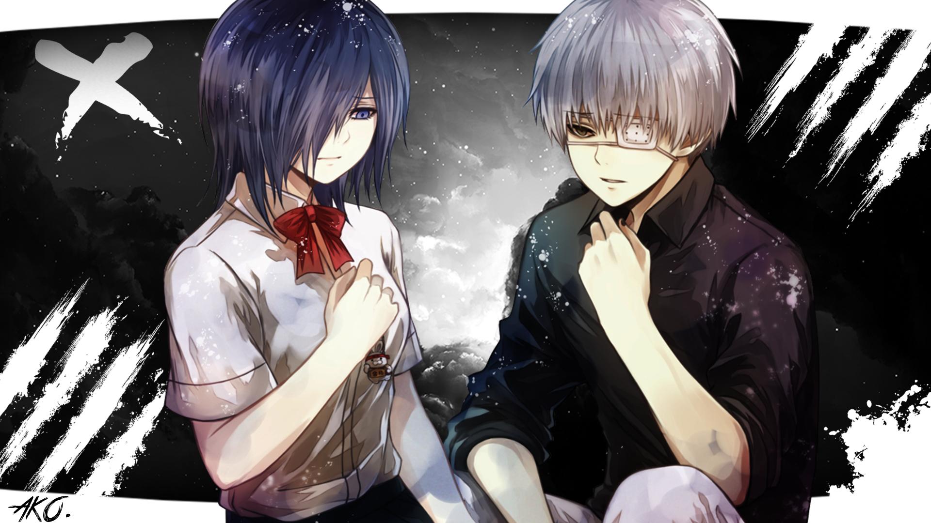 TOUKA AND KANEKI TOKYO GHOUL HD Wallpaper | Background Image