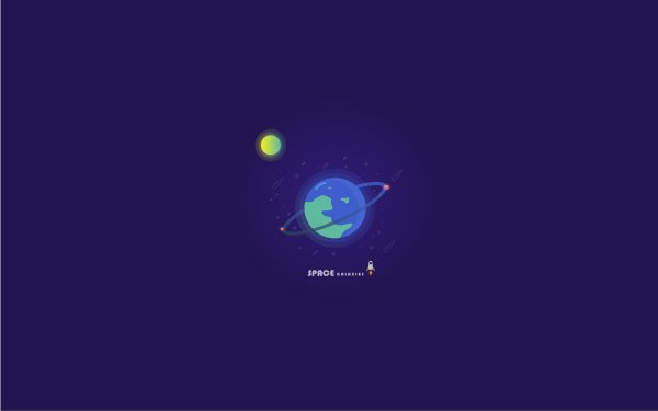 Artistic Earth Planet Space Rocket HD Wallpaper | Background Image
