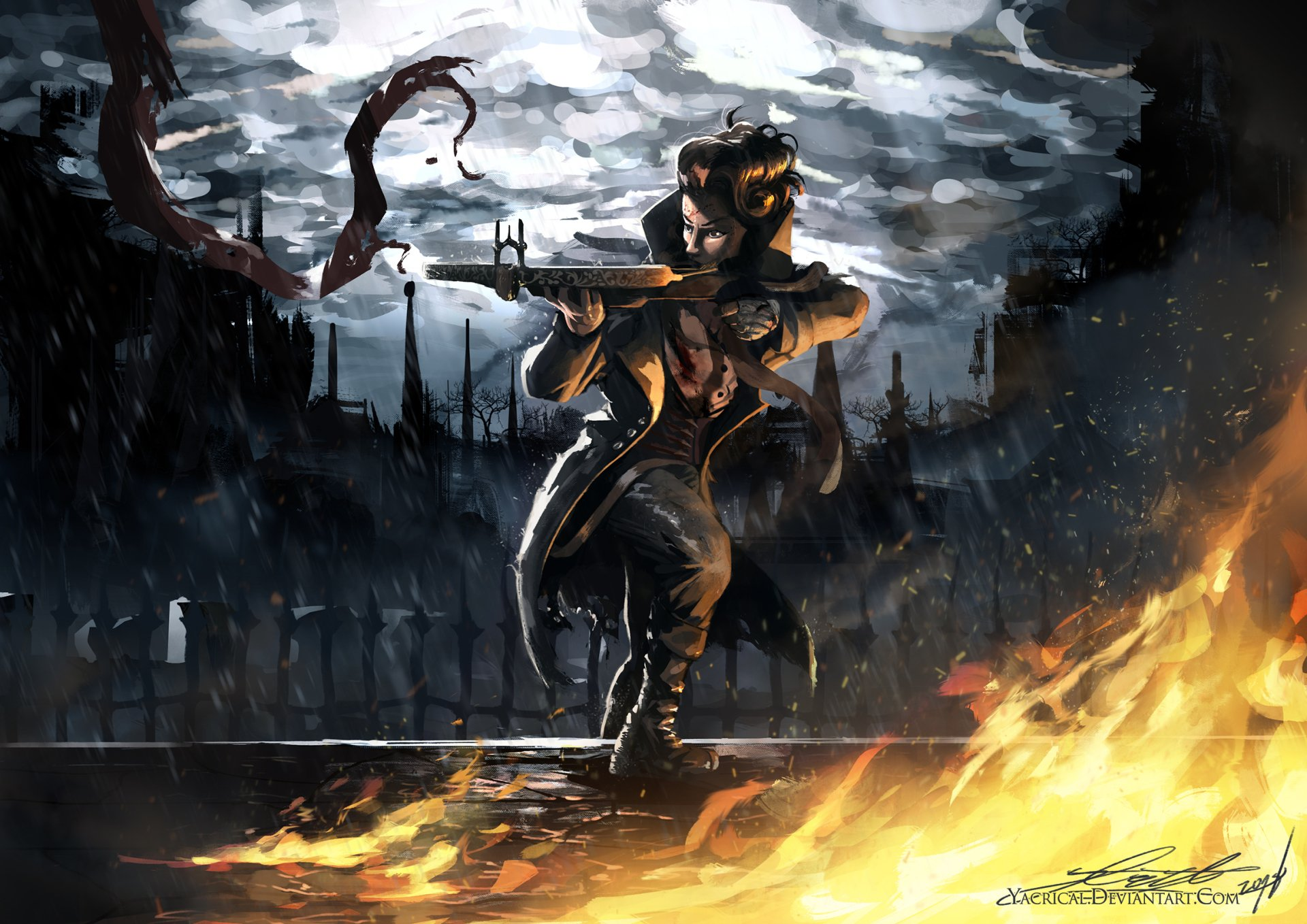 Huntress HD Wallpaper | Background Image | 2315x1637 | ID ...  Huntress