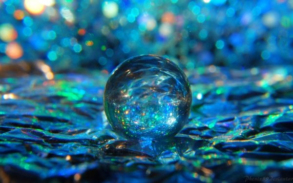 Abstract Ball Reflection HD Wallpaper | Background Image