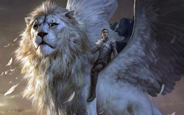 Fantaisie Lion Animaux Fantastique Woman Fille Créature Fond d'écran HD | Arrière-Plan