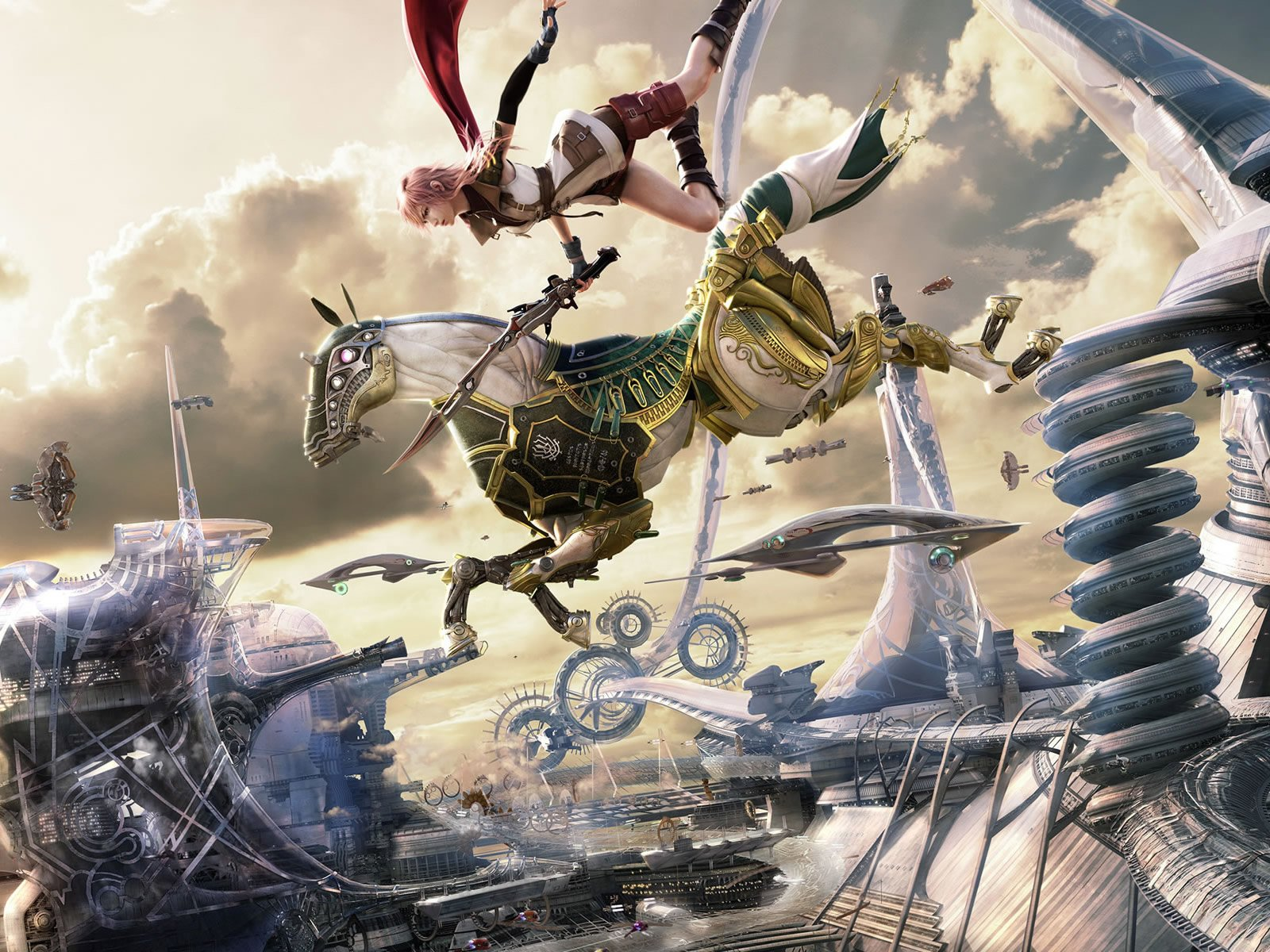 Video Game - Final Fantasy XIII  Odin Lightning CGI Game Final Fantasy Fantasy Wallpaper
