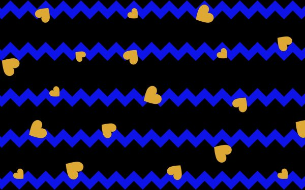 Abstract Geometry Shapes Colorful Digital Art Heart Blue Chevron HD Wallpaper | Background Image