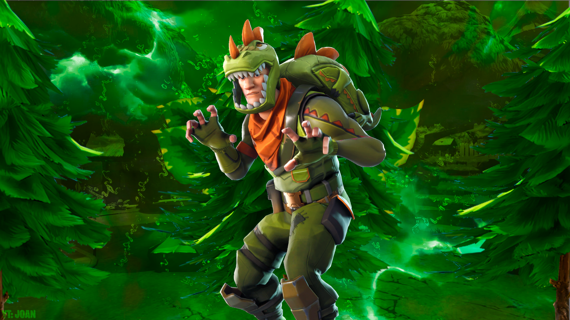 Fortnite Wallpaper Green