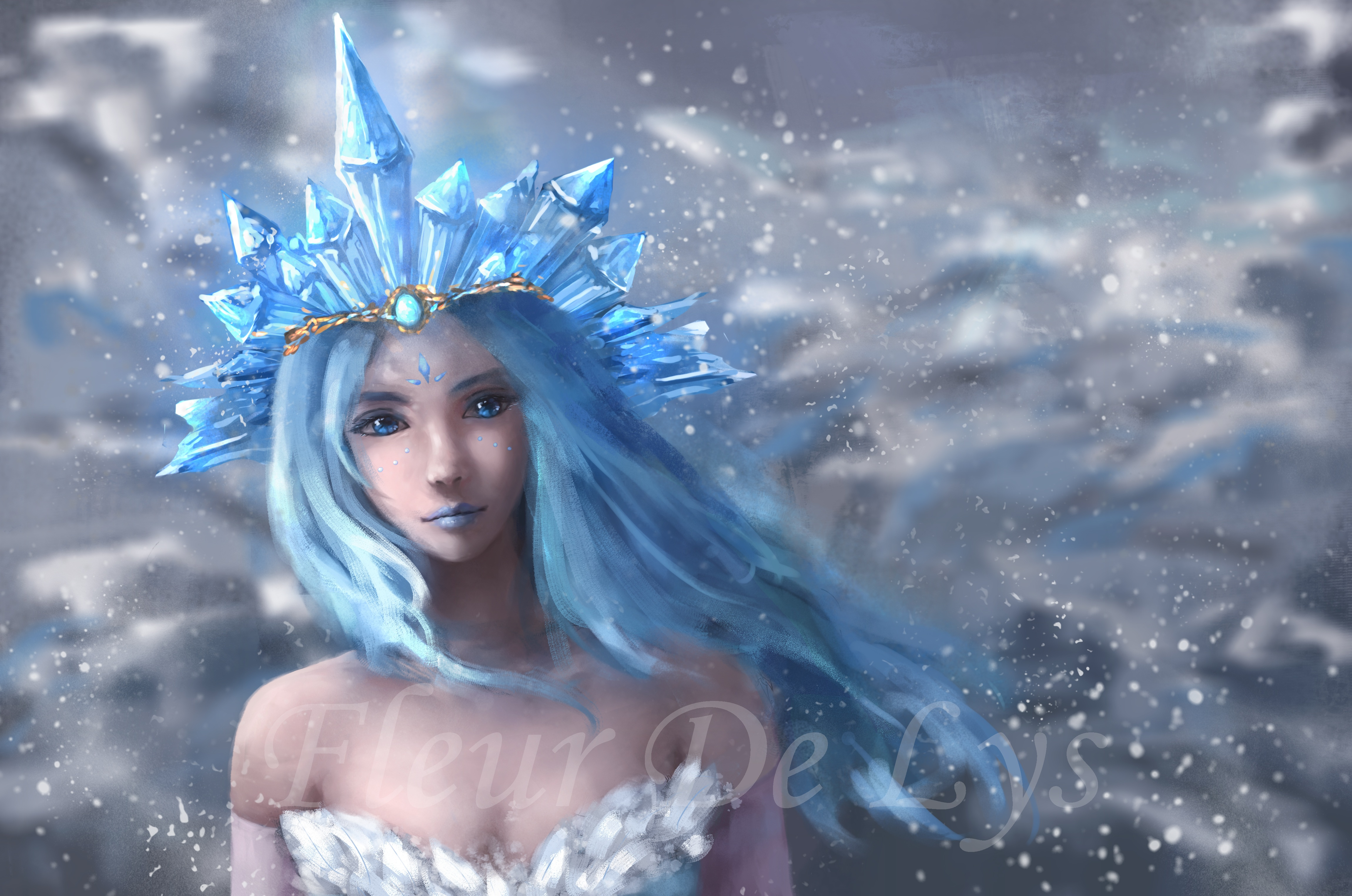 Crystal Maiden 4k Ultra Hd Wallpaper Background Image