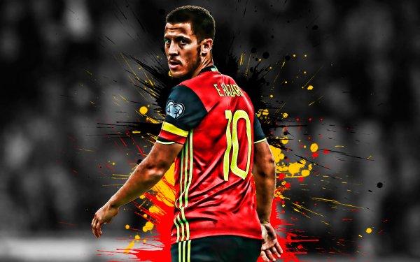 Sports Eden Hazard Soccer Player Belgium National Football Team HD Wallpaper | Background Image
