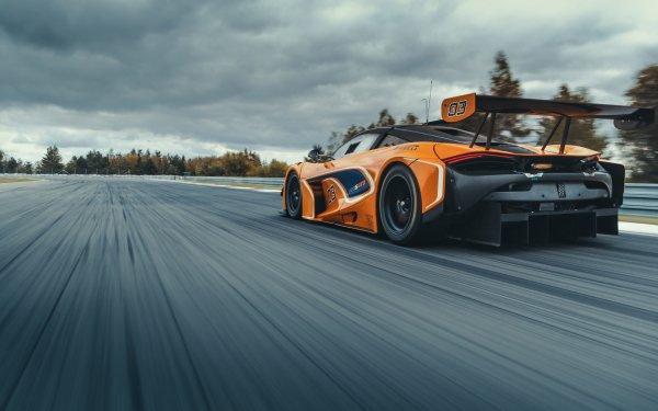 Vehicles McLaren 720S GT3 McLaren McLaren 720S Car Orange Car Race Car Sport Car HD Wallpaper | Background Image