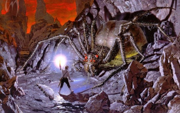Fantasy Lord of the Rings The Lord of the Rings Shelob Frodo Baggins HD Wallpaper | Background Image