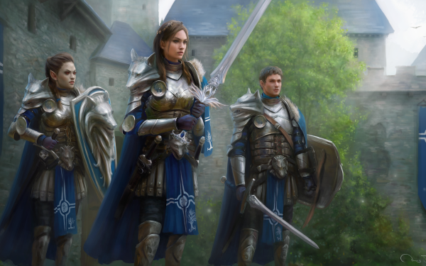 Fantasy Warrior Orc Sword Castle HD Wallpaper | Background Image