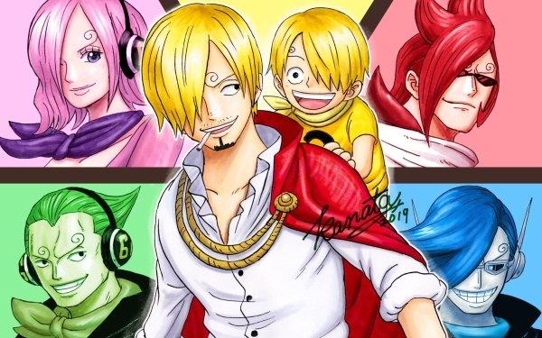 Anime One Piece Reiju Vinsmoke Ichiji Vinsmoke Niji Vinsmoke Yonji Vinsmoke Sanji Germa 66 HD Wallpaper | Background Image