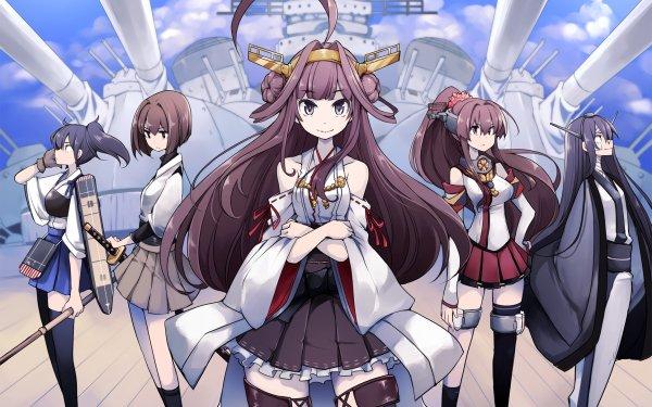 Anime Kantai Collection Hyuuga Kaga Kongou Nagato Yamato HD Wallpaper | Background Image