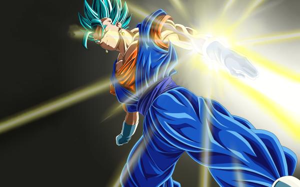 Anime Dragon Ball Super Dragon Ball Dragon Ball Z Vegetto Super Saiyan Blue HD Wallpaper | Background Image