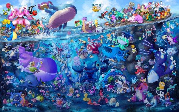 Anime Pokémon Water Pokémon Fondo de pantalla HD | Fondo de Escritorio